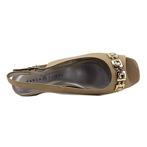 Karen Scott Womens Analese Peep Toe Slingback Classic Pumps Taupe W1KueXq