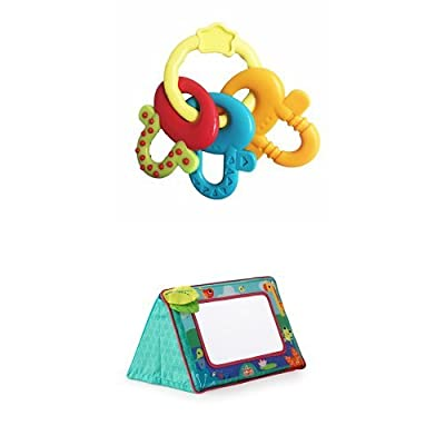 Bright Starts License to Drool Teether & Bright Starts Sit and See Floor Mirror, Safari : Baby