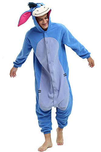 Eeyore Onesie Costume for Adult. Halloween Donkey Costume for Men and Women. (S) Blue for $<!--$26.99-->