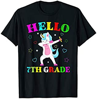 7th Grade Back To School Unicorn Funny Hello Seventh Grade T-shirt   Size S - 5XL
