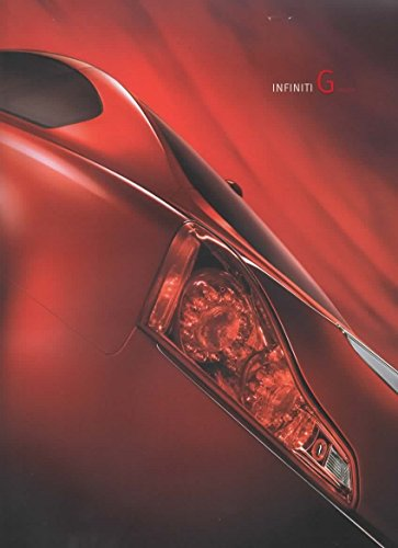 - Dealer Sales Brochure for 2009 Infiniti G-Coupe G37 G37x Journey, AWD, Sport 6MT