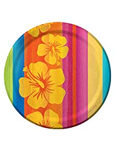 8 Platos de cartón Hawái 23 cm