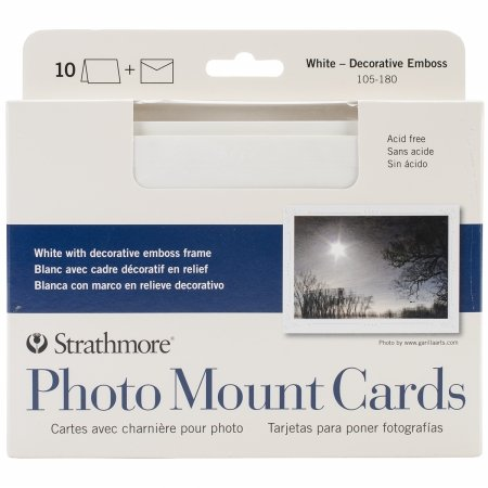 - Strathmore Photo Mount Cards and Envelopes White Embossed Package Of 10