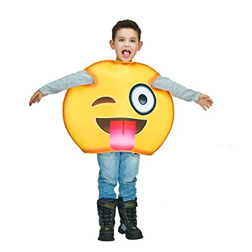 Children Unisex Emoji Costumes Tongue One Size