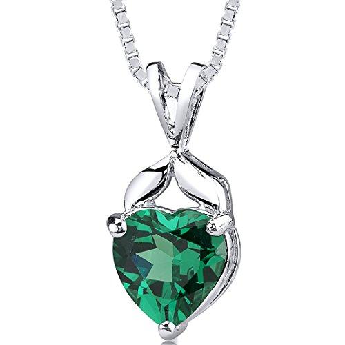 emerald necklace  amazon com