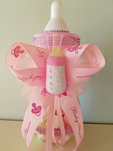 Baby Shower Centerpiece Fillable Bottle Big Large 14'' Piggy Bank Girl Decoration by Product789