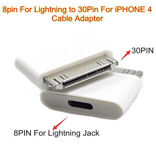 [iCablezTM USA] Lightning 8 Pin Female to 30 Pin Male Adapter for Iphone 4s 3 Ipod Touch 4 Ipad 1 8pin , works with docking stations,ihome bose and more