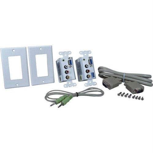 Pc and Composite Av Wallplate Uses 2 CAT5E and RJ45 Cables