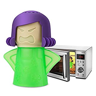 TOPIST Angry Mama Microwave Cleaner Angry Mom Microwave Oven Steam Cleaner and Disinfects With Vinegar and Water for Kitchens, Steamer Cleaning Equipment Easily Cleans the Crud in Minutes - Green