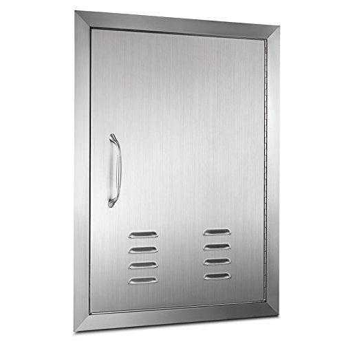 "Mophorn 14"" x 20""BBQ Access Door with vents Vertical Island Door Stainless steel single door for Outdoor Kitchen by Mophorn"