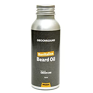 Groomarang Revitalise Beard Oil - Moisturiser & Conditioner For Soft Bearded Hair - 100% Natural, Organic & Vegan 100ml