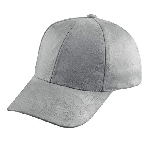 New Womens Mens Snapback Suede Baseball Sun Visor Sport Hat Adjustable Caps US Gray