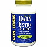 daily extra no iron - Vita Logic Daily Extra 2-A-Day No Iron 120 Vegetarian Tablets
