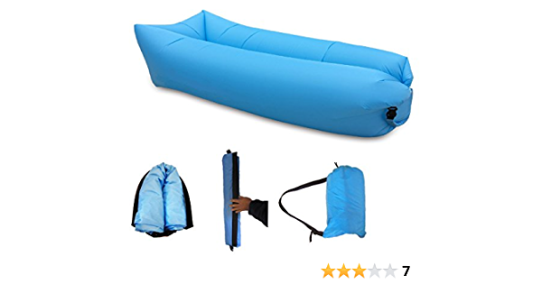 Sleeping Bed for Travelling Camping Hiking Pool Beach Parties Moontie Inflatable Lounger Sofa Outdoor Green Foldable Air Sofa Ultra-Light Bed