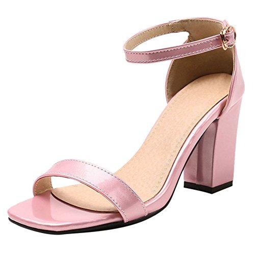 8 Pink Cm Talons Sandales Colors Femmes 5 JOJONUNU Bloc pFqBUwz