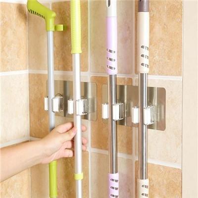 Wall Mounted Storage Mop Holder Brush Broom Hanger - random ()