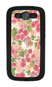 good cover rose buds art TPU Black case/cover for Samsung Galaxy S3 I9300