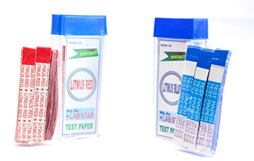 Labworld litmus Paper Test 200 Strips (Blue and Red, 100×2) for Testing Acid and Base Solutions, Fun and Learn Activity Laboratory Industrial Scientific Experiment