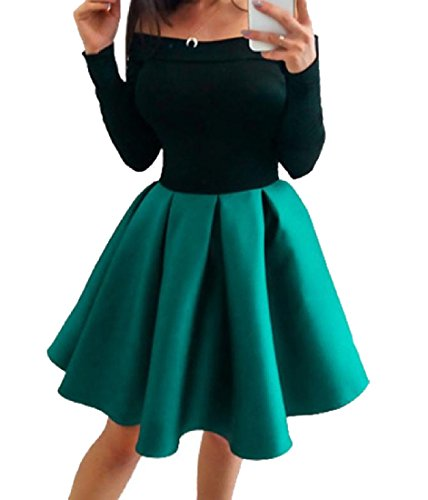 Da Party Spalline Cuciture Comodo Eleganti Abito Womens Sera Verde Soffio Senza 7fdnn6ZqwS