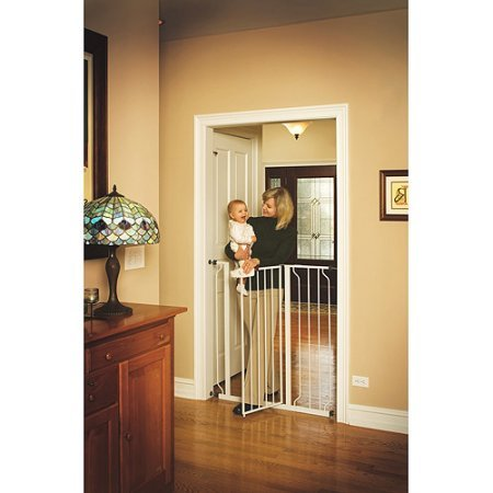 Regalo Easy Step 41-Inch Extra Tall Walk Through Baby Gate,
