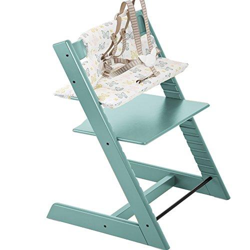 Stokke Tripp Trapp Highchair & Tripp Trapp Cushion Sweet Butterfly (Aqua)