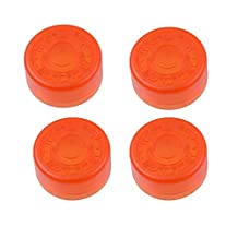 GETMusic Mooer Plastic Bumpers Footswitch Topper Protector For Guitar Effect Pedal Pack of 4Pcs (Orange x4)