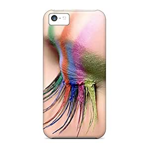 New Iphone 5c Case Cover Casing(colorful Lashes)