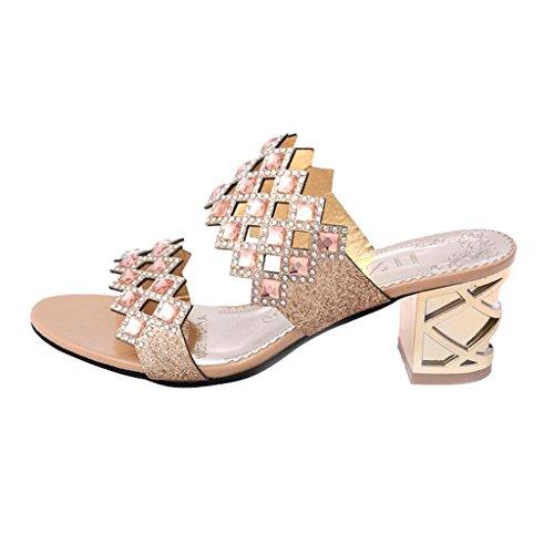 Dear Time Women Mid Heel Slippers Sandals