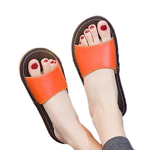 Women Femme pour TELLW Chaussons Orange Anfqp08Bw0