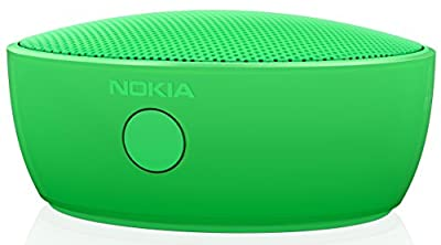 Nokia MD-12 Rechargeable Bluetooth/NFC Wireless Portable Mini Speaker with Built-In Microphone for Smartphones/Tablets - Green
