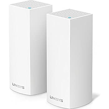 Linksys Velop Tri-band Whole Home WiFi Mesh System Router Replacement for Home Network, Works with Amazon Alexa (Certified Refurbished) (2 Pack, Version 2)