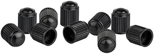 xunits Tapones de válvula para bicicleta – Válvula Schrader también AV – Válvula de Auto, también para montaña o BMX ruedas de plástico en negro – Juego de ...