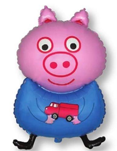 Blue Pig Shaped (Peppa/George) 26 Inch Foil Balloon