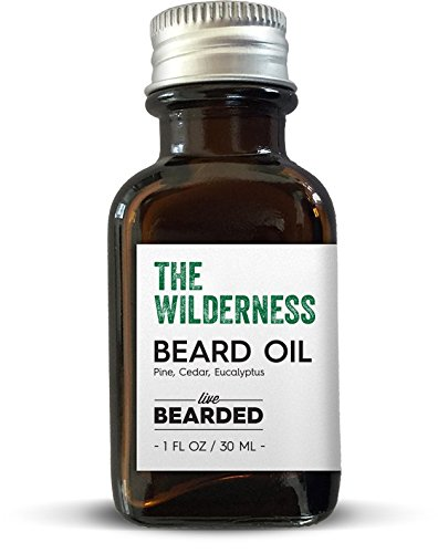 All Natural Beard Oil | Proudly Made in the USA | Live Bearded (Pine, Cedar, Eucalyptus - The Wilderness)