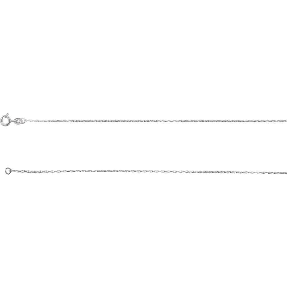 925 Sterling Silver Necklace Rope Chain in Silver Choice of Lengths 16 18 20 24 and 0.85mm 1.5mm 1.85mm 1mm