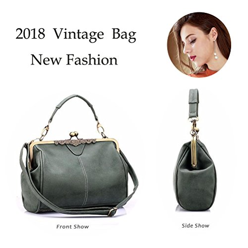 Women Bag Purse Satchel Totes Handnbag Bag Leather Kiss Lock Shoulder Abuyall Handbag Vintage Minimalist Imitation G Retro Rp6wRqd