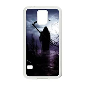C-EUR Customized Print Grim Reaper Hard Skin Case Compatible For Samsung Galaxy S5 I9600