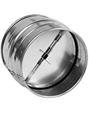 HVAC OV Backdraft Damper, One-Way Airflow Ducting Insert with Spring-Loaded Folding Blades