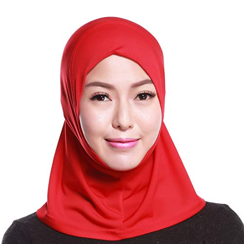 4Pcs Islamic Turban Head Wear Hat Underscarf Hijab Full Cover Muslim Cotton Hijab Cap in 4 Colors (D) by HANYIMIDOO (Image #1)