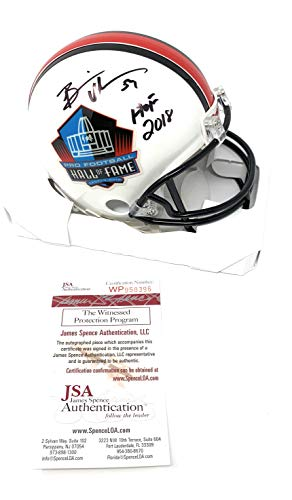 Brian Urlacher Chicago Bears Signed Autograph Hall Of Fame Mini Helmet HOF Inscribed JSA Witnessed Certified ()