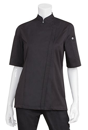 Chef Works Women's Springfield Chef Coat, Black, Large by Chef Works