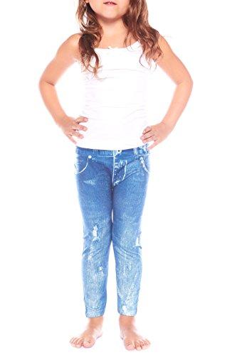 Crush Girls Printed Distressed Denim Skinny Ankle Leggings Pants 4X - 6X (Girls Distressed Jeans)
