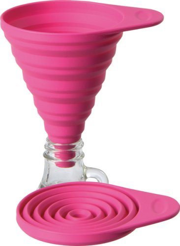 Silicone Pink Lamson Collapsible Funnel Small