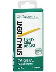 Stim-U-Dent Plaque Removers 12 Packs of 25 Picks/Pack (300 Picks) - Mint Flavor