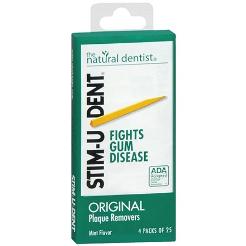 Stim-u-dent Plaque Removers Mint 25 Ea (4 Pack) (Plaque Stimudent Removers Mint)