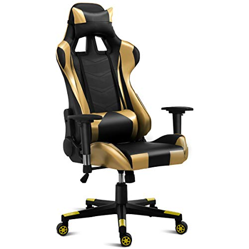 Giantex Gaming Chair Racing Chair High Back Reclining With