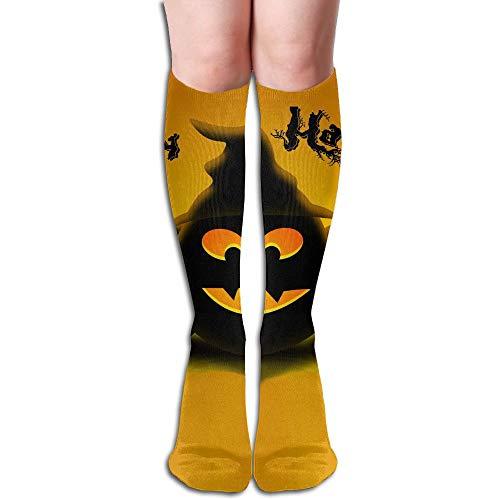 PLAYALLFUN Men Women Happy Halloween High Stockings Hose Tube Dresses Party Breathable Unisex Sports Teenager Knee Socks