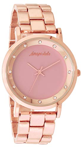 Aéropostale Women's Quartz Rose Gold Watch - Simple Pink Dial - Casual Business Watch from Aéropostale