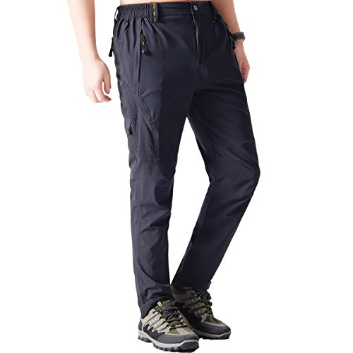 Fung-wong Mens Hiking Breathable Quick Drying Outdoor Lightweight Mountain Pants