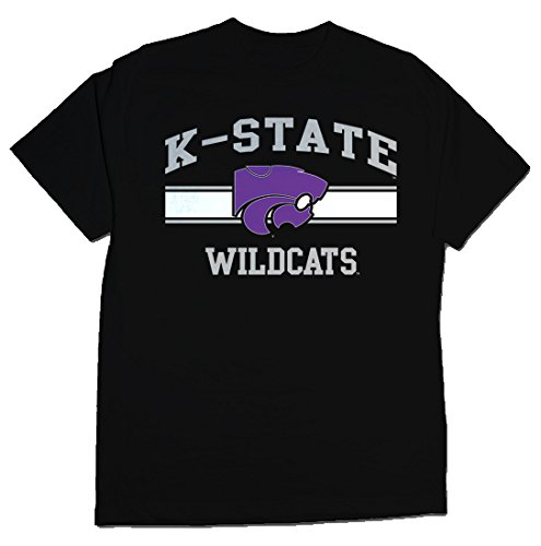 NCAA Kansas State Wildcats Stormster Short Sleeve Tee, X-Large, Black